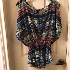AGACI COLD SHOULDER BLOUSE, SIZE M